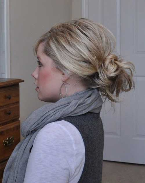 Hair Messy Low Bun Styles