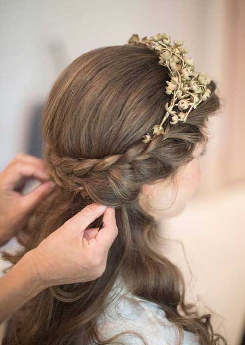Half Up Wedding and Prom Hairstyles