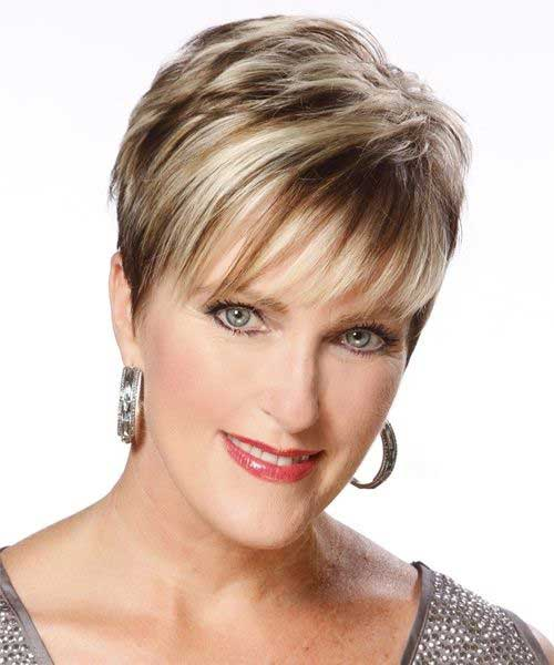 Best Highlighted Short Hair for Women with Oval Face