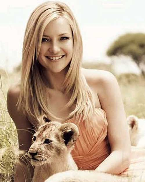 Kate Hudson Long Blonde Haircuts