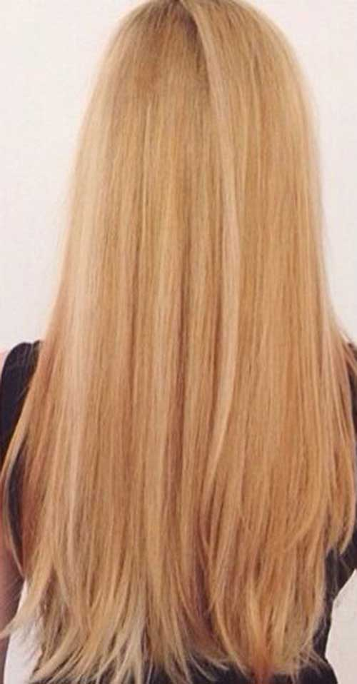 Long Strawberry Blonde Straight Hairstyles