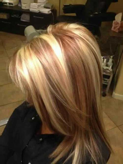 Long Strawberry Blonde Highlighted Hair Styles