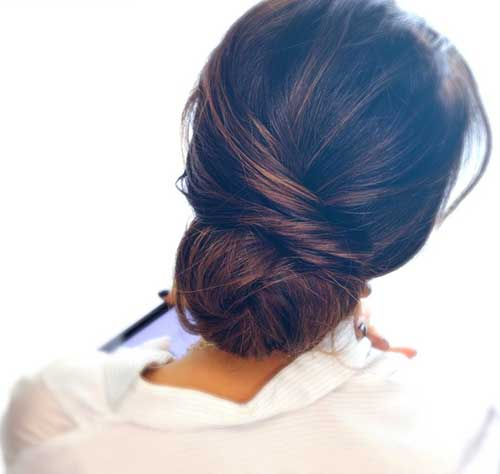Low Messy Buns Hairstyles