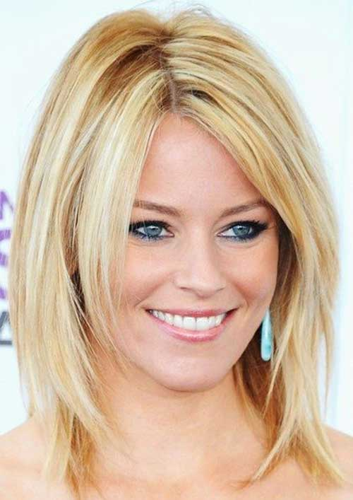 Medium Cut Blonde Layered Hairstyles