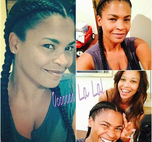 Nia Long Nice Braided Hair Style