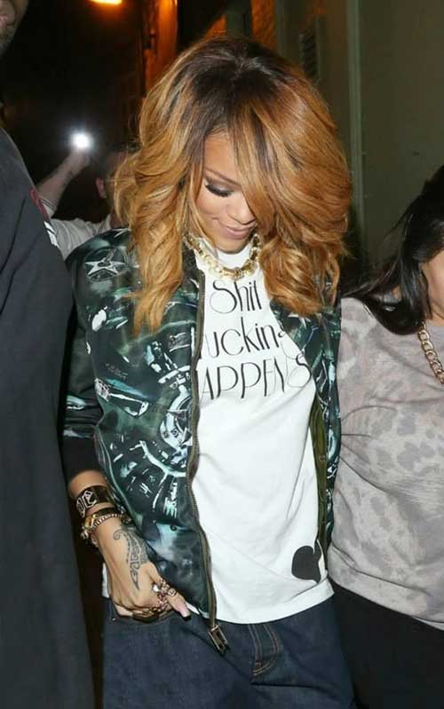Rihanna Gorgeous Long Hairstyles