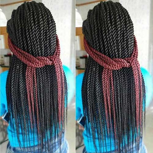 Black Women Senegalese Hairstyles Braids