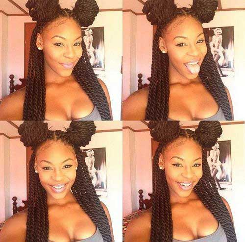 Senegalese Twist Braided Hairstyles