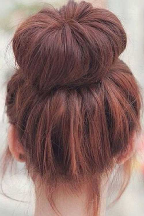 Simple Messy Buns Hairstyles