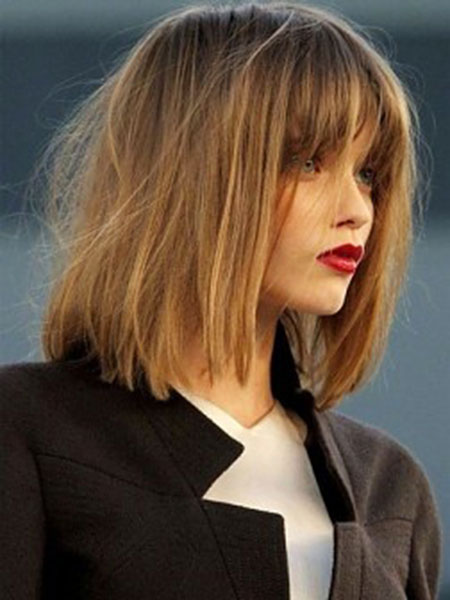 Short Hair with Straight Bangs - 10