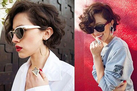 Short Curly Haircuts for Women - 11