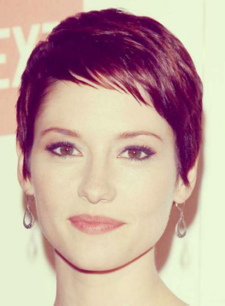 Short Medium Hairstyles Bangs - 12