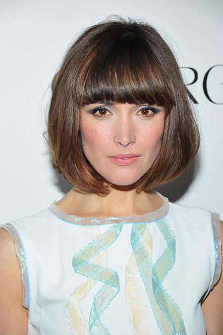 Short Medium Hairstyles Bangs - 13