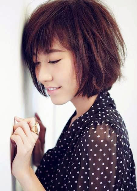 Short Medium Hairstyles Bangs - 14