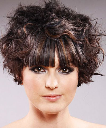 20 Nice Curly Hair With Bangs Hairstyles And Haircuts