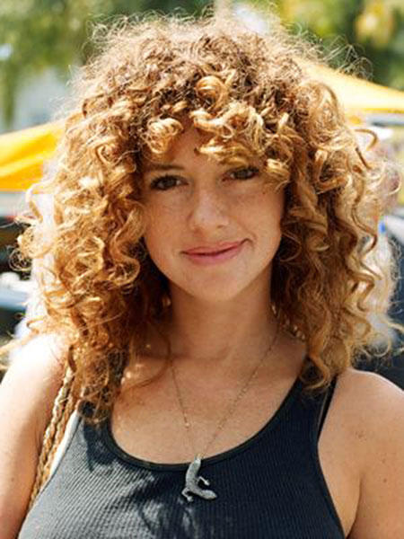 20+ Nice Curly Hair with Bangs | Hairstyles and Haircuts