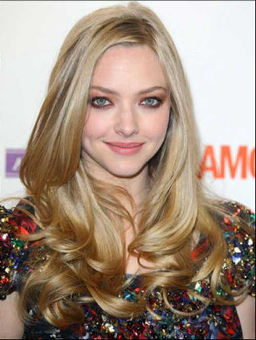Amanda Seyfried Hairstyles for Round Faces