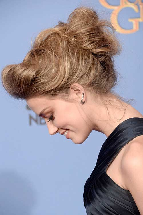 Famous Amber Heard Updo