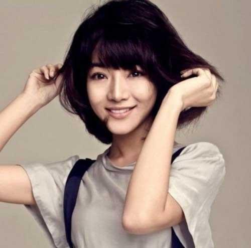Asian Korean Girl Short Hair