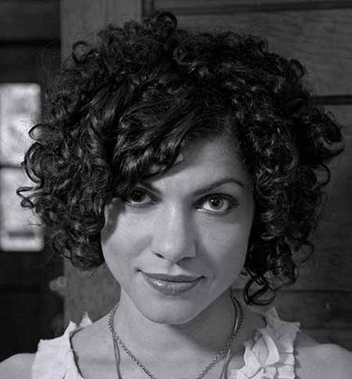 Good Asymmetrical Curly Hair Cut Ideas