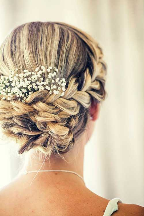 Best Beautiful Wedding Updo with A Braid