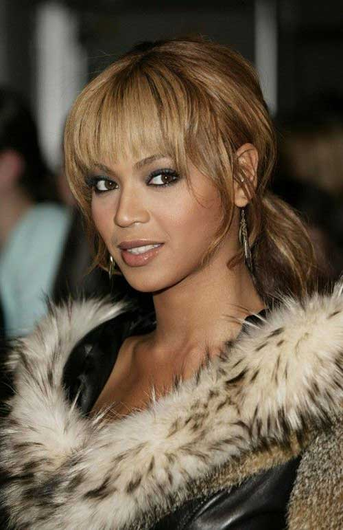 Beyonce Ponytail with Bangs