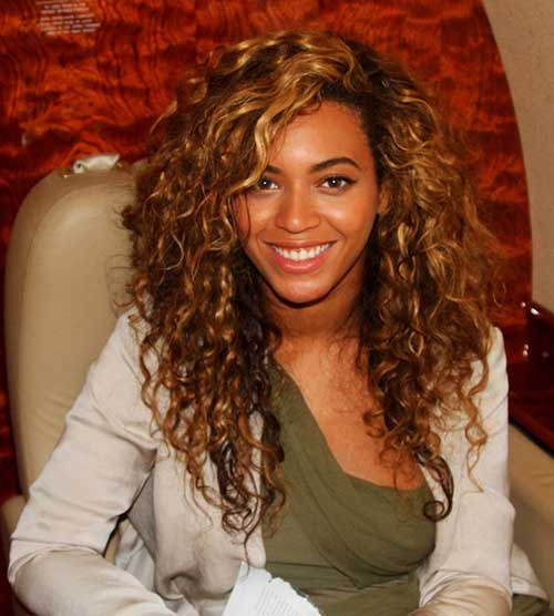 Beyonce Curly Layered Hairstyles