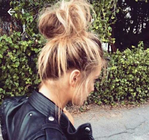 Pretty Big Bun Hairstyles for Ladies