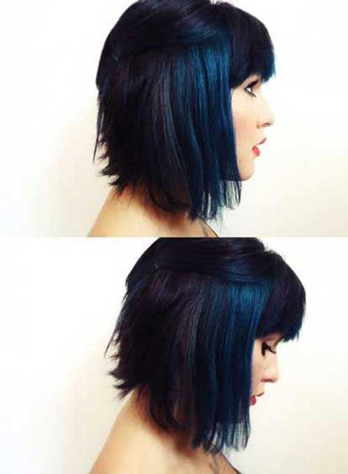 Black Blue Bob Hairstyles