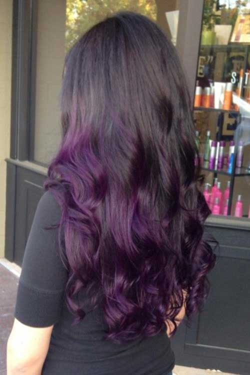 Black Purple Ombre Hairstyles