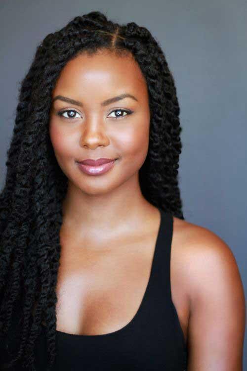 Black Women Long Hairstyles 2015