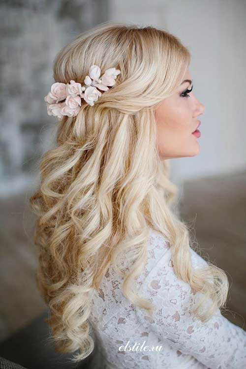 Blonde Bridal Hair Half Updo