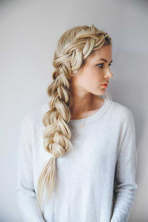 Best Blonde Different Braided Hairstyles