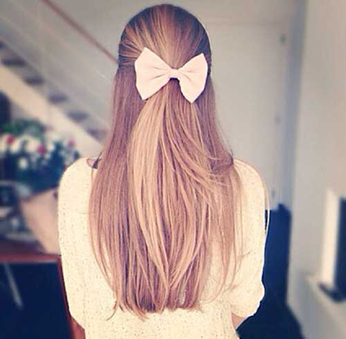 Simple Blonde Hair with Bow