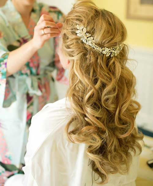 Cute Bridal Hair Half Up