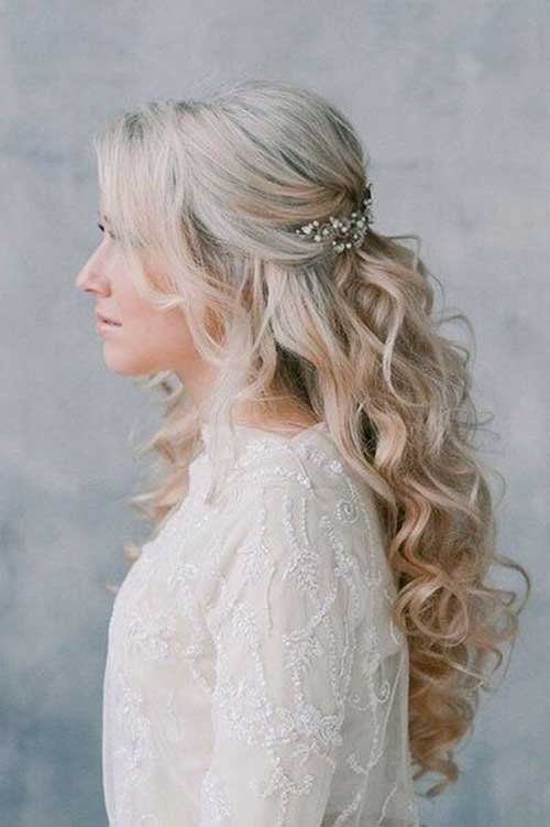 Bridal Hairstyles Long Half Up Half Down
