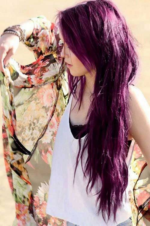 Burgundy Plum Hair Easy Long Hair