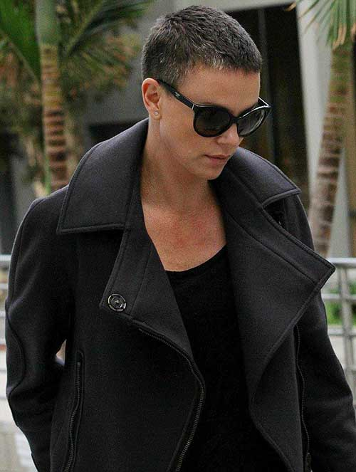 Charlize Theron Super Short Haircuts