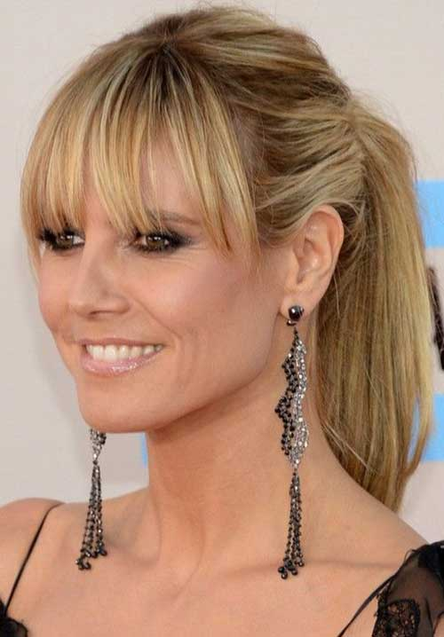 Classy Long Ponytail with Bangs