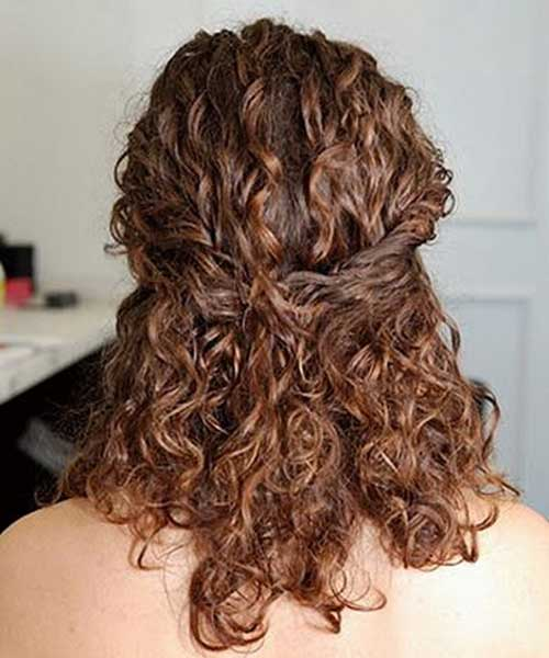 Curly Hair Pulled Back Styles