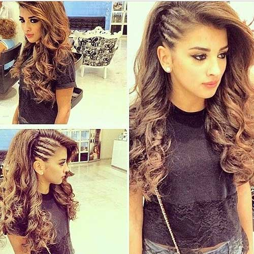 Best Curly Hair with Side Cornrows