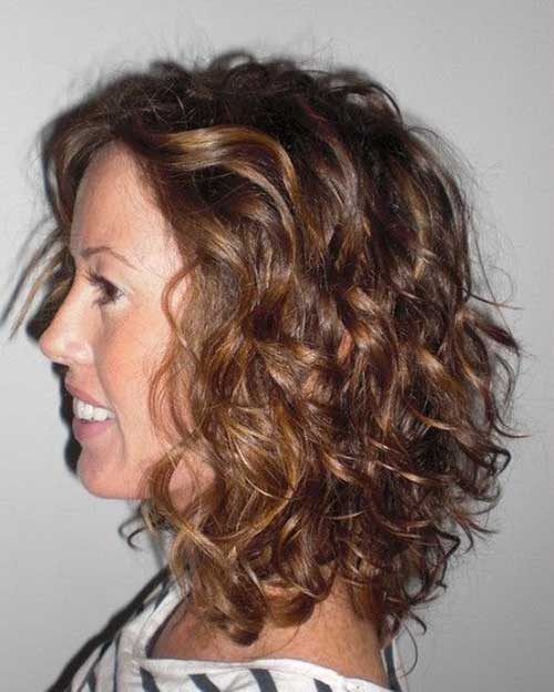 Curly Highlighted Hairstyles