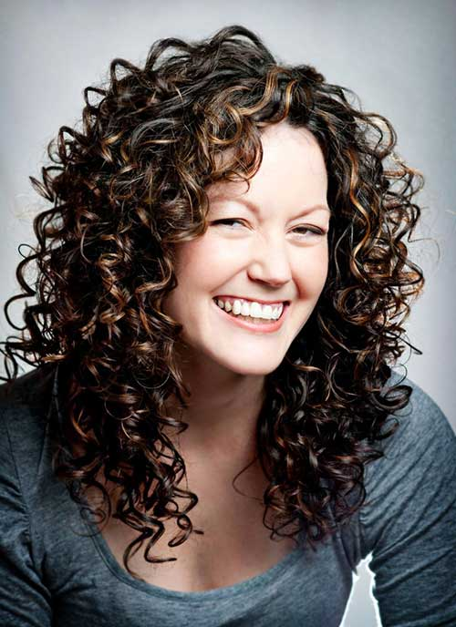 Dark Brown Layered Curly Haircuts