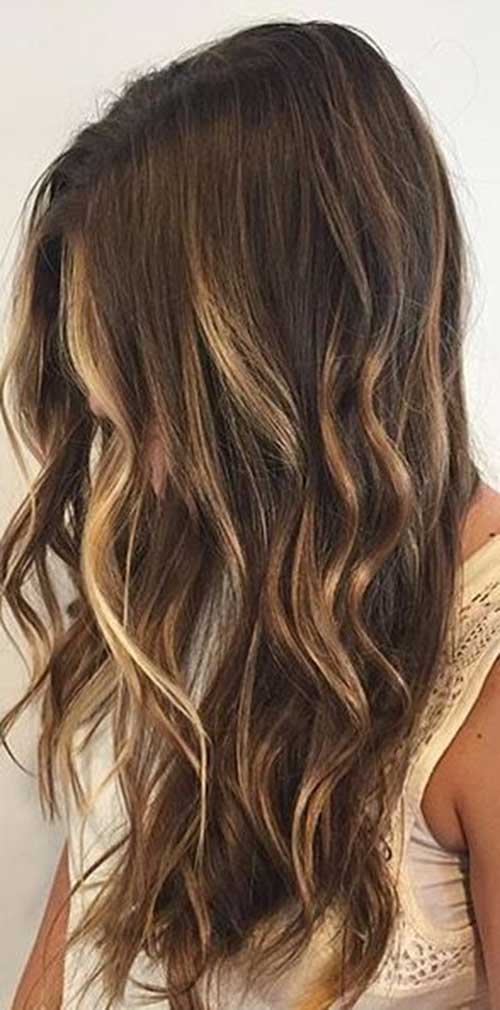 Dark Brunette Hair Blonde Balayage 2015