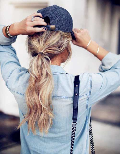 Easy Long Hair Low Ponytail Styles