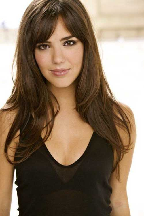 Best Easy Long Haircuts with Bangs