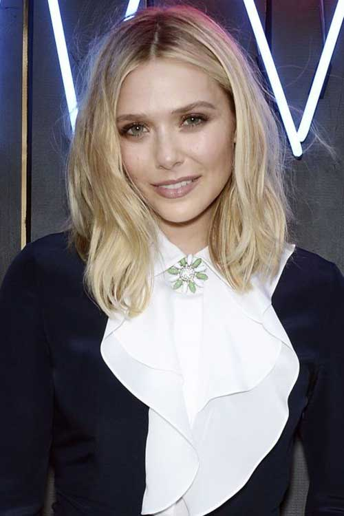 Elizabeth Olsen Hollywood Hair