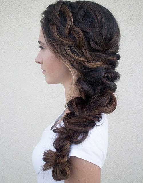 Fishtail Braid Wedding Hairstyle