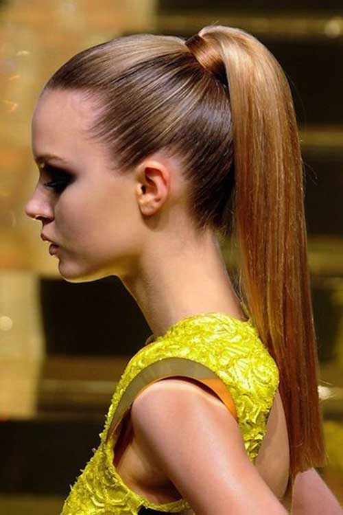 Formal High Straight Ponytail