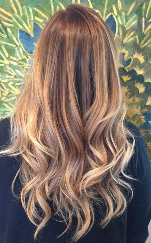 Golden Blonde Brown Balayage